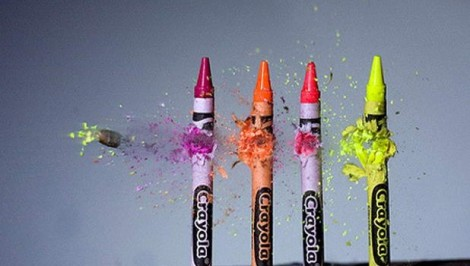 High Speed Photography, Frames per Second, FPS, crayons shot